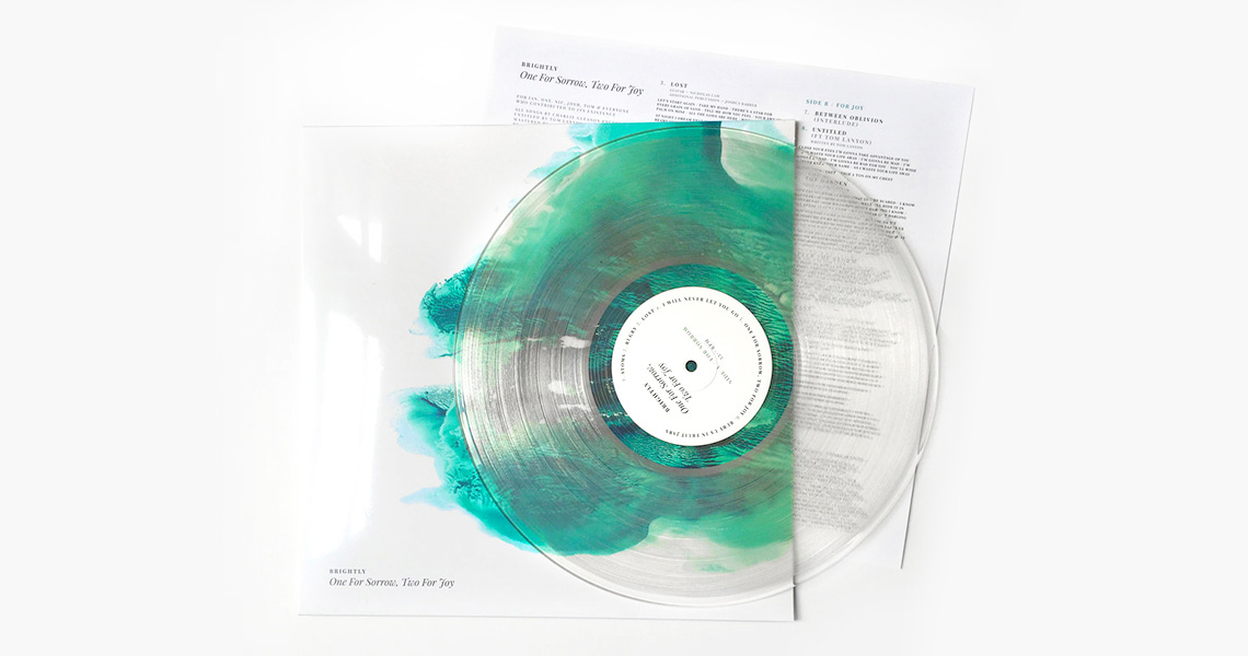 A photo of the vinyl edition of the album
